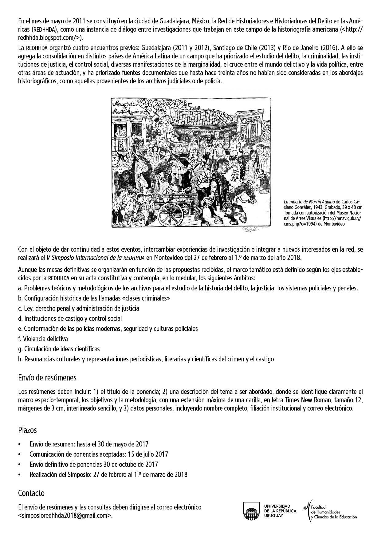 V Simposio Internacional de la REDHHA | Revista de Historia de las ...