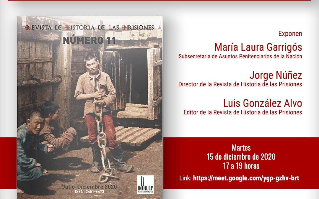Presentación  Número 11 Revista de Historia de las Prisiones
